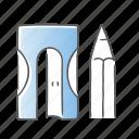 draw, pen, pencil, sharpener icon