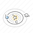 astronomy, solar, space, system icon