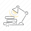 knowledge, lamp, learn, study icon
