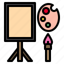 art, brush, color, paint, palette icon