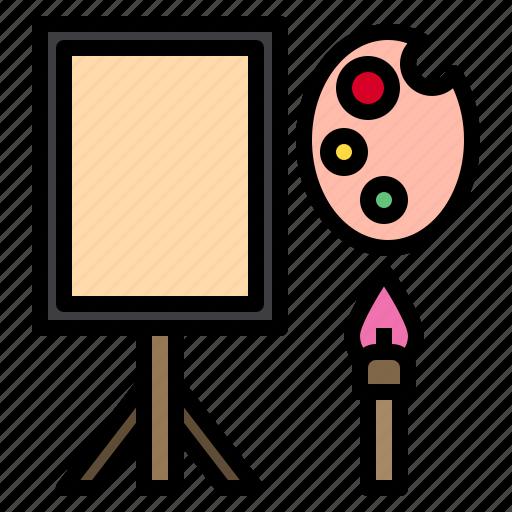 Art, brush, color, paint, palette icon - Download on Iconfinder