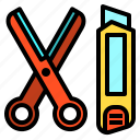 cut, cutter, school, scissors, tool icon