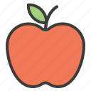 apple, food, fruit, red