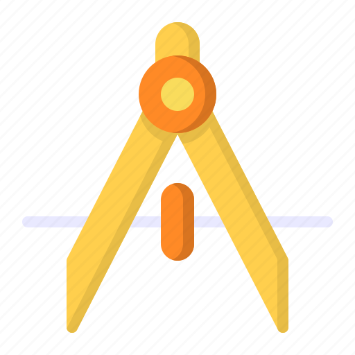 Compass, divider, geometry, tool icon - Download on Iconfinder