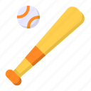 ball, baseball, bat, game, sport icon