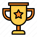 award, cup, star, trophy, winner icon