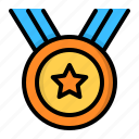 award, badge, medal, prize, star, winner icon