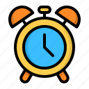 alarm, alert, bell, clock, hour, time, watch icon