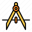 compass, divider, geometry, tool icon