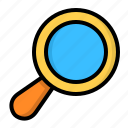 glass, magnifier, magnifying, search, zoom