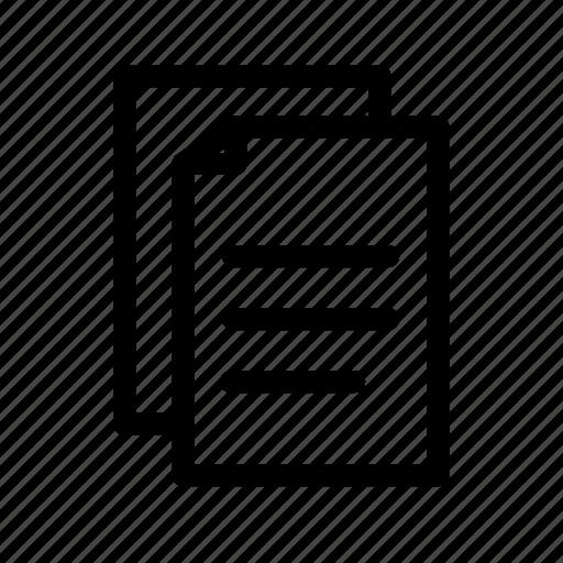 document, education, file, school, student, study icon
