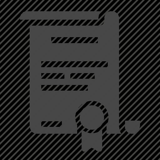 certificate, degree icon