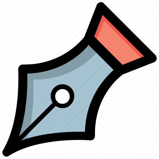 editorial, pen nib, pen tip, signature, writing icon