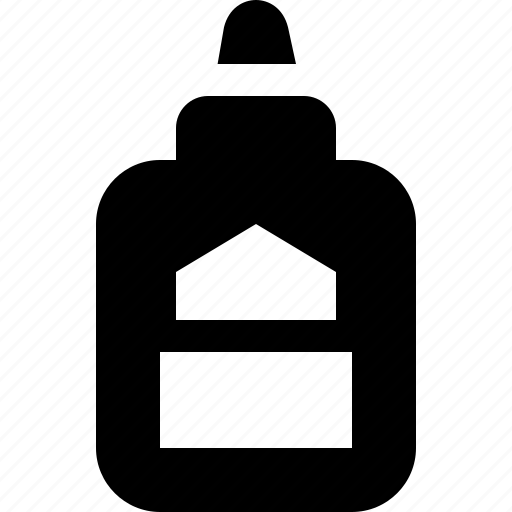 bottle, children, craft, education, glue, project, school icon