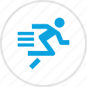 athletics, graph, run, sports icon