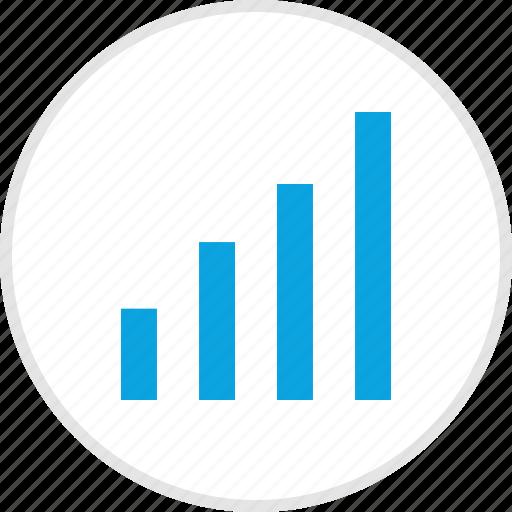 analytics, bars, data, graph icon