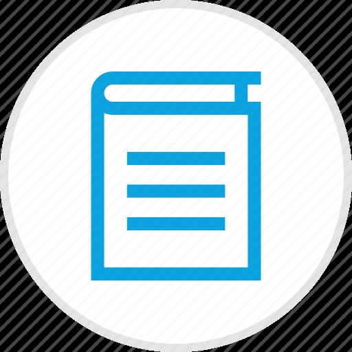 book, bookmark, cover, title icon