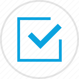 approved, box, check, mark icon