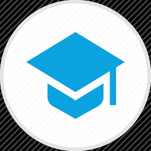 cap, college, graduation, high, school icon