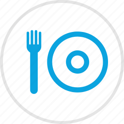 food, fork, lunch, menu, plate icon