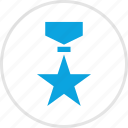 honor, medal, ribbon, star icon