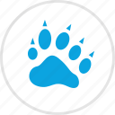 animal, cheetah, paw, tiger icon