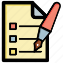 checklist, list, schedule, to do, work plan icon