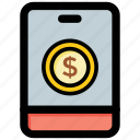 e banking, mcommerce, mobile banking, online transaction, payment icon