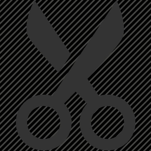 cut, edit, education, paper scissors, project, scissors icon