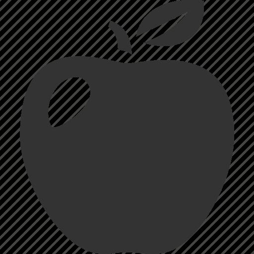 apple, education, fruit, leaf, metaphor, study icon