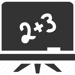 board, draw, education, math, numbers, school, school board, study icon