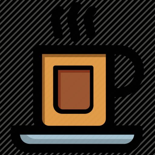 coffee cup, hot tea, mug, tea break, tea cup icon