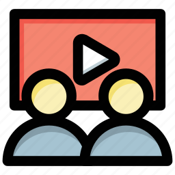 communication, video call, video conference, video lecture, video presentation icon