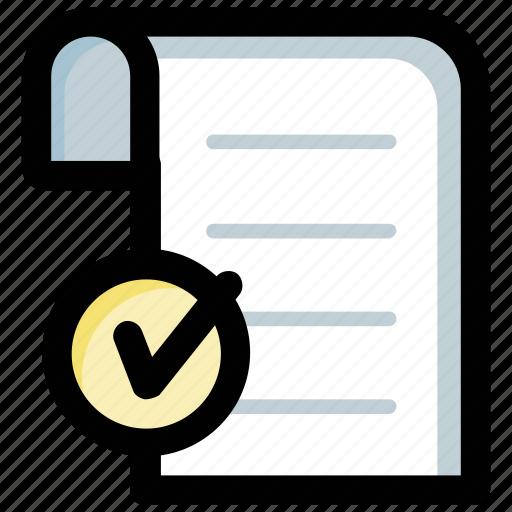 checklist, plan, survey, task complete, task done icon