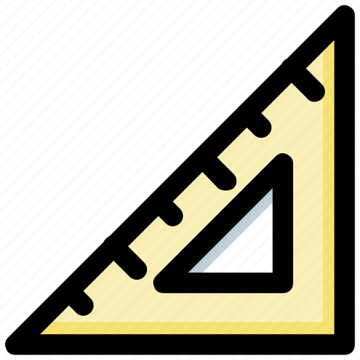 architect tool, degree square, drafting tool, geometry tool, set square icon