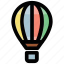 air balloon, air travel, hot air balloon, transport, traveling balloon icon