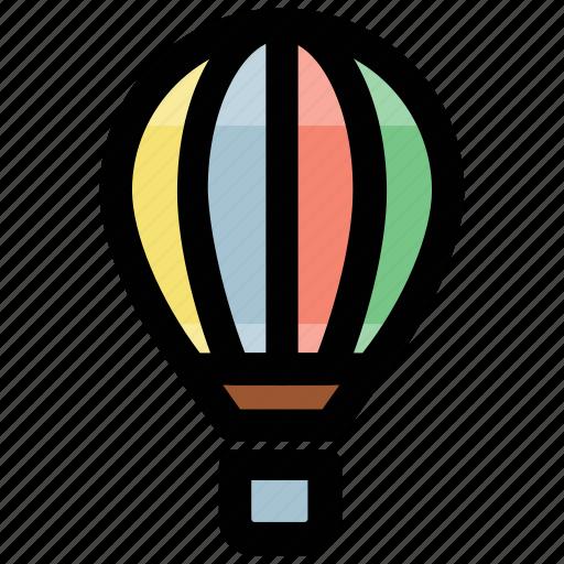 air balloon, air travel, hot air balloon, transport, traveling balloon icon