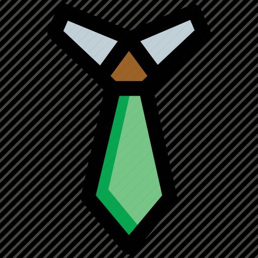 businessman tie, formal tie, necktie, tie, uniform tie icon