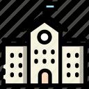 building, college, school icon