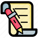 agreement, contract, notes, signing document, text document icon