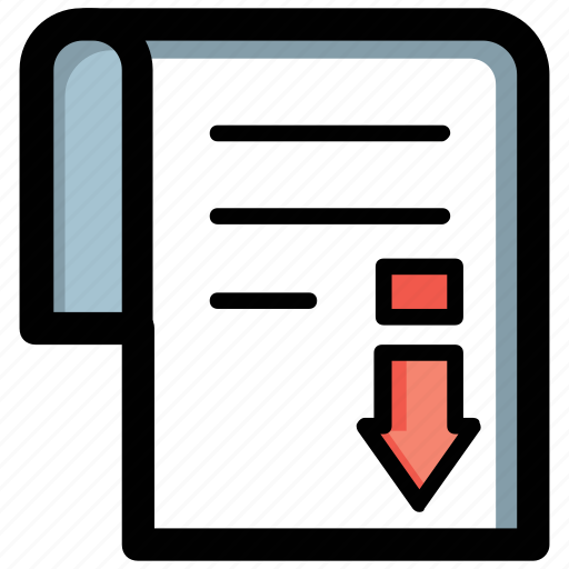 article, document, file download, import file, text file icon