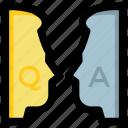 ask, faq, question answer, questionnaire, survey icon
