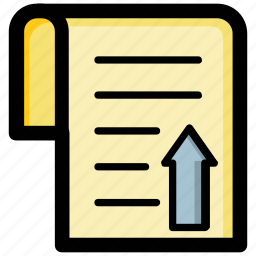 article, document, export file, file upload, text file icon