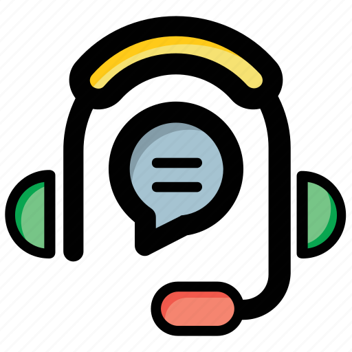 chat support, consultant, headphones, representative, support center icon