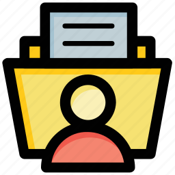 data folder, data storage, folder, personal folder, profile icon