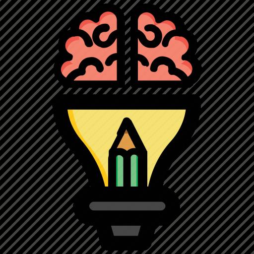 bright idea, bulb mind, creative idea, genius, intelligent icon