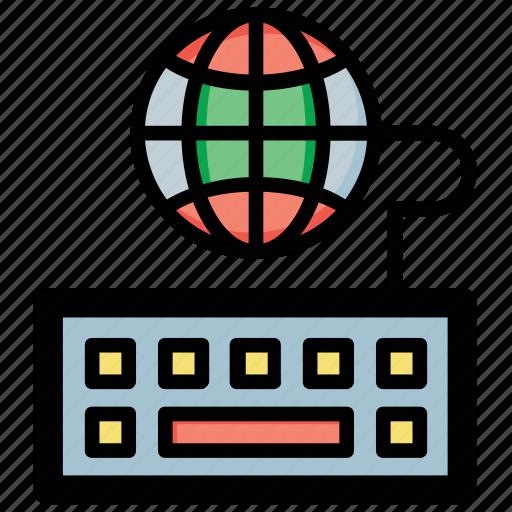 coding, keyboard, programming, typing, working icon