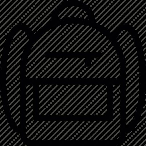 backpack, bag, books bag, rucksack, school bag icon