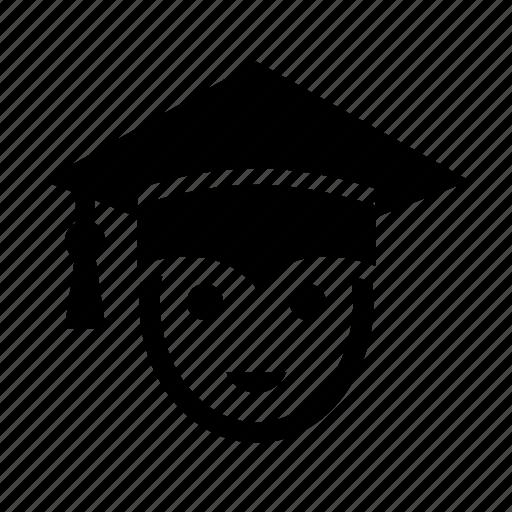 boy, education, graduation, graduation cap, man, student icon