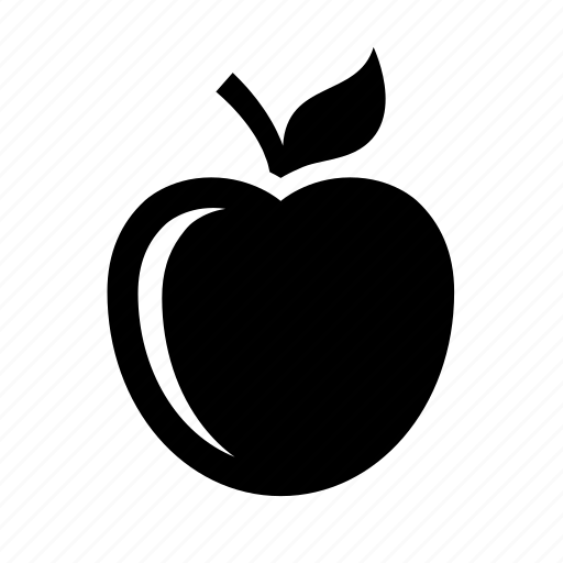 apple, diet, education, food, fruit, nutrition, snack icon